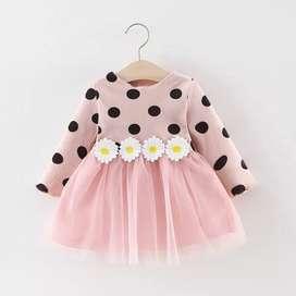 Vestido de niña , de lunares