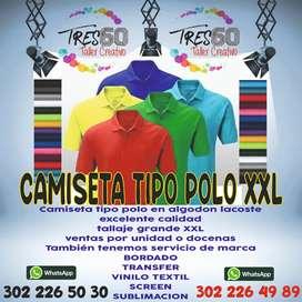 CAMISETAS TIPO POLO TALLASS GRANDES XXL