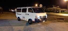 Nissan urvan modelo 2012 16 pasajeros