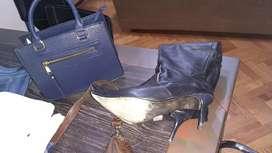 Cartera cuero más botas cuero