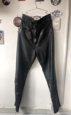 Harley Pantalon Cuero Mujer Talla 10