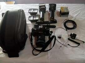 Cámara fotográfica seagull df 300 X y accesorios