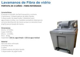 LAVAMANOS DE FIBRA DE VIDRIO