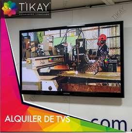 Alquiler de tv, led, plasma, para eventos y ferias, alquiler de proyector, alquiler de tv con pedestal.