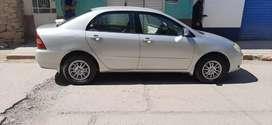 Vendo mi Toyota Corolla año fab. 2002 caja mecánica GLI