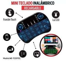 Mini teclado keyboard inalambrico recargable para android smart tv pc computador celular tambien con touchpad como mouse