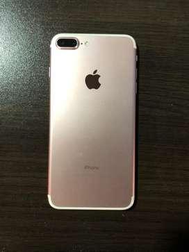 Se vende iPhone 7 Plus color oro rosa de 128 gb