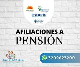 Afiliaciones a pensión