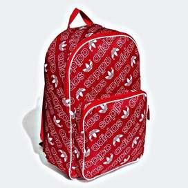 Mochila adidas roja logo trifoil original