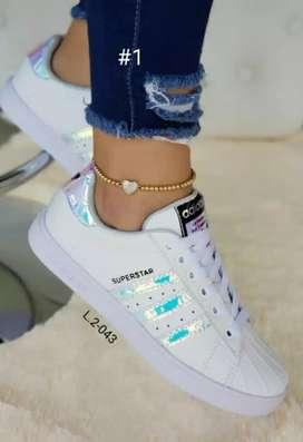 Zapato Tennis Deportivo Adidas Superstar Para Dama