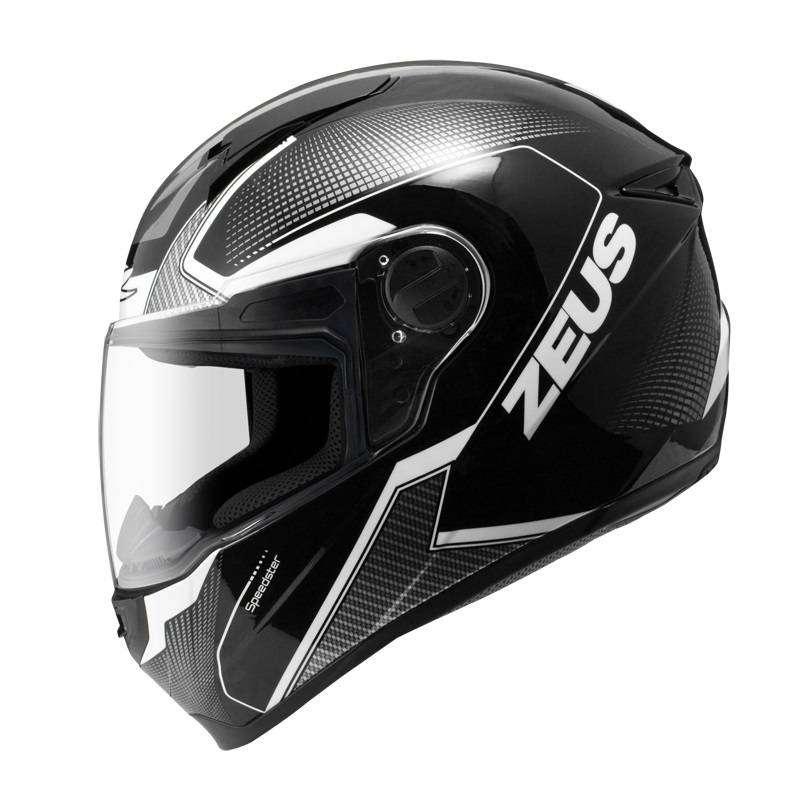 Casco Zeus 811 AL6 Matte Negro/Blanco para Motociclistas 0