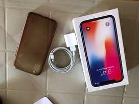 Caja y cargador iphone x