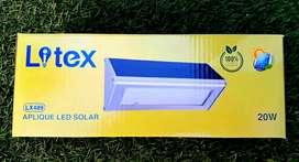 Aplique solar aluminio 20w