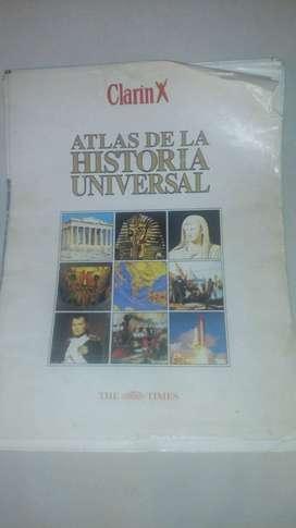 Atlas de la historia universal Clarín sin encuadernar