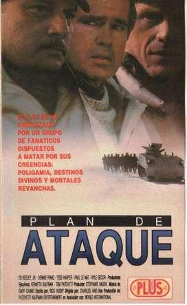 PLAN DE ATAQUE PELICULA EN VHS SUSPENSO 1982 AUDIOMAX