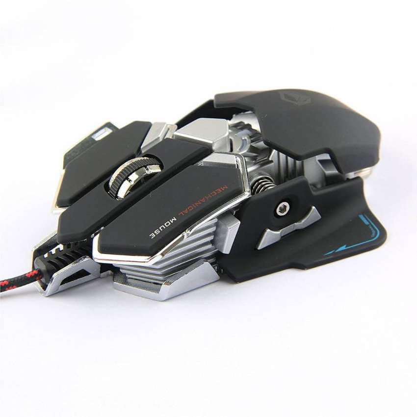 Mouse Mecanico Gamer Gaming Meetion M990 Aluminio Programable Metalico 0