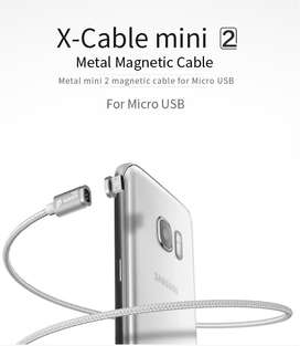 Cable De Datos Micro Y IPhone Magnetico 1 Cable 2 Plugs