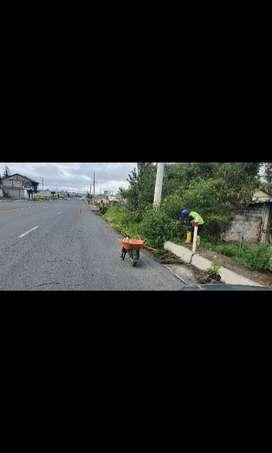 Busco obreros para proyecto de mantenimiento y limpieza de vias