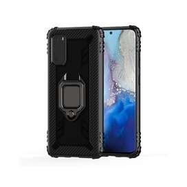 Estuche Protector Antichoque Carbon Ring Samsung S11e / S20