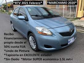 Toyota YARIS 2009 AUTOMATICO RTV 2021 Sedan Recibo & FINANCIO