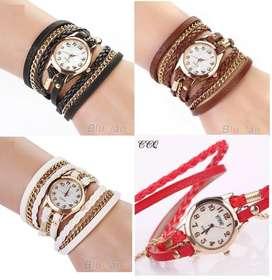 Reloj Elegance delle ilusion of time mujer dama cuero analogo