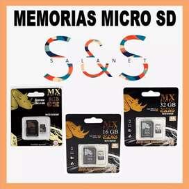 Memorias us y micro, al mayor y detal 8 - 16 - 32. Metalicas de excelente calidad. Mínimo 6 unidades puedes combinarlas
