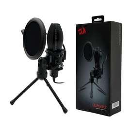 Microfono Gamer Redragon Quazar Gm200 Omnidireccional Negro