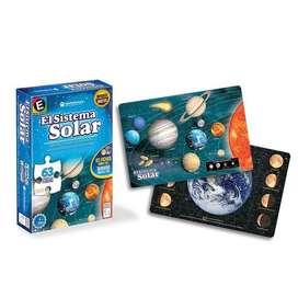 Rompecabezas Sistema Solar 63 Piezas Doble Faz Ronda