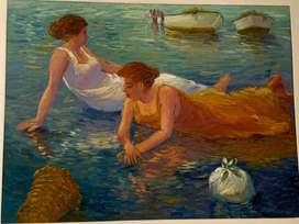 Pintura - Kayo - Mujeres en la playa