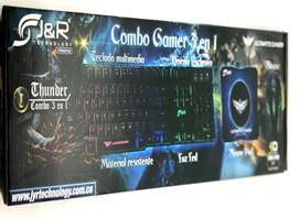 Combo Gamer J&R (Mouse gamer, teclado gamer tipo mecanico, Mouse Pad)