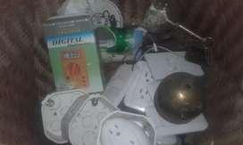 Accesorios de trabajo, herramientas, ventilador, calefon, lamparas, etc. compritas buenas de todo tipo esquina de venta.