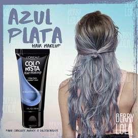 Azul Plata Hair MakeUp - Maquillaje temporal de cabello ️
