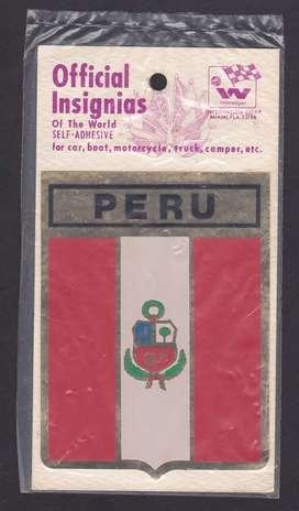 PEGATINA INSIGNIA PERU RETRO VINTAGE