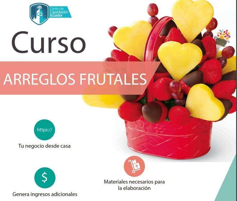 CURSO ARREGLOS FRUTALES QUITO. FIESTAS. FRUTAS. EVENTOS 0