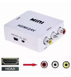 Convertidor adaptador DE HDMI A RCA video versión 1080P