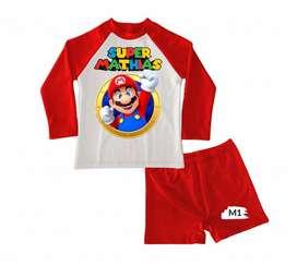 Conjunto de traje de baño Super Mario Bros para niños