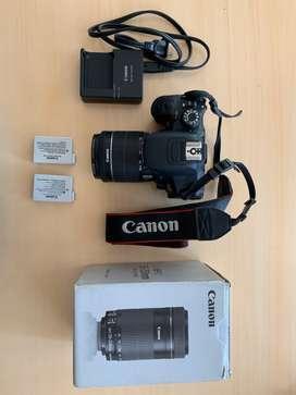 Vendo canon T5i + lente 18-55 + lente 55-250 + 2 baterías + cargador original