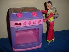 Barbie y su cocina