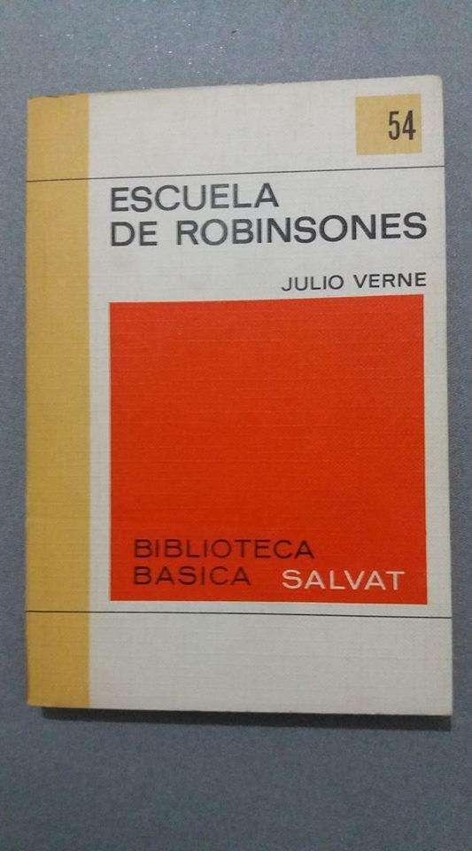 Escuela De Robinsones Julio Verne Biblioteca Salvat 0