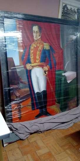 Oleo sobre lienzo Bolivar 1.60ancho x 190 de alto taller maestro avendaño