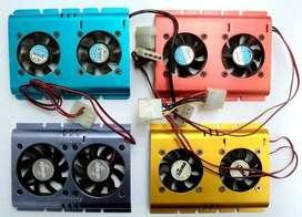 Vendo Cooler Ventilador Para Discos Duros Sata O Ide completamente Operativos.
