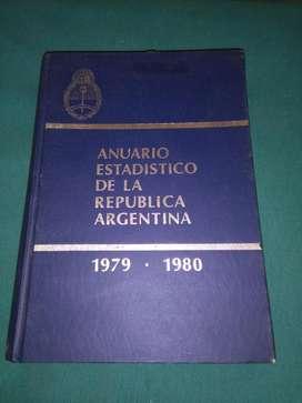 ANUARIO ESTADISTICO DE LA REPUBLICA ARGENTINA 1979 1980 LIBRO  INDEC