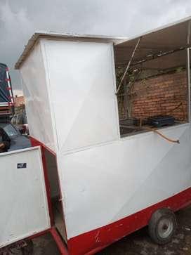 Caseta trailer comidas rapidas