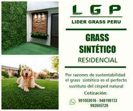 GRASS SINTÉTICO DECORATIVO O RESIDENCIAL, precio x m2