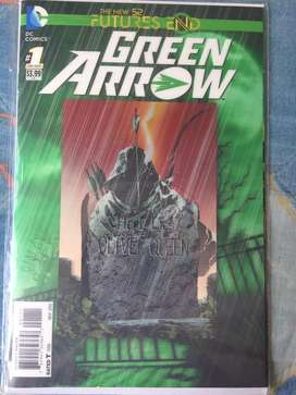 DC New 52 futures end Green Arrow en ingles