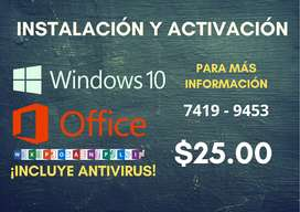 "Instalación y activación de ""Windows 7, 8 , 10 y Office"