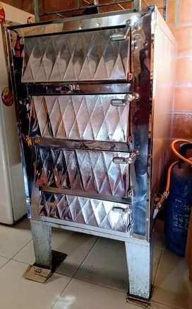Horno a gas de 3 cámaras - panadería/pizzería - con escabiladero