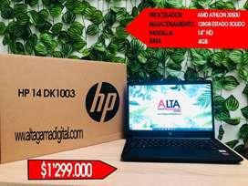 PORTATIL HP ATHLON RAM 4 SSD 128