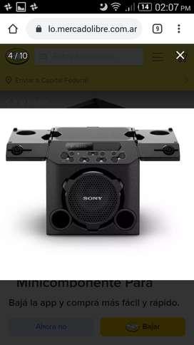 Vendo ya! parlante SONY bien potente, portatil,usb,aux,karaoke, sirve como amplificador de guitarra lo dice en el manual