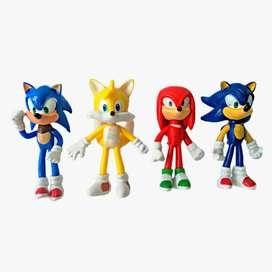 Muñecos Sonic x4
